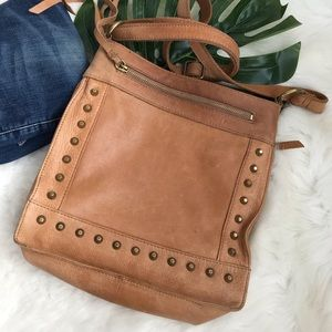 Lucky Brand | Dixie Studded Leather Crossbody Bag
